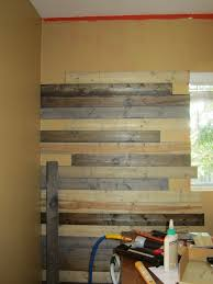 Pallet Wall Bathroom Create A Faux Wood Pallet Wall Wendy James Designswendy James