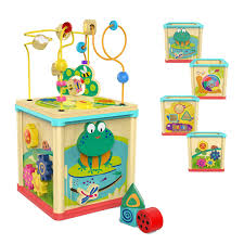 top bright activity cube toys baby educational wooden bead