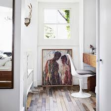 home office flooring. Arty Home Office With Wood Flooring And Limited-edition Print Of Edvard Munch\u0027s Madonna L