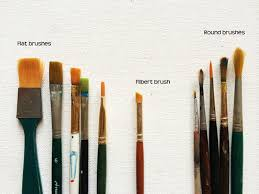 it is better to have diffe shaped and sized brushes depending on the painting