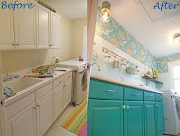 kitchen laundry room cabinets laundry. Laundry Room Makeover Colorful Before After, Chalk Paint, Home Decor, Kitchen Cabinets, Cabinets