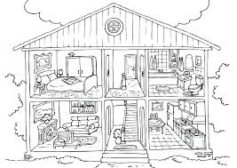 Gingerbread Man House Coloring Pages Gingerbread Man House Coloring