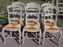 chair extraordinary antique ladder back chairs with cane seats beautiful provencal chairs set french painted