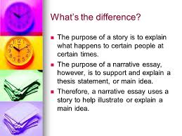 narration essay a sample structure ppt video online  what s the difference the purpose of a story is to explain what happens to certain people 6 sample structure for narrative essay