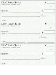 Blank Cheque Template Mesmerizing Here's A Page Of Blank Checks To Use For Money And Spending
