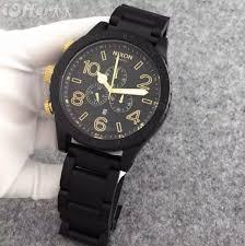 nixon mens a0831041 51 30 matte black gold chrono watch for