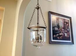 full size of antique brass bell shaped clear glass jar shade chandelier pendant lantern the broadway