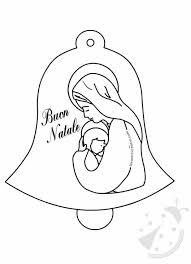 Campana Con Madonna Con Gesù Bambino Da Colorare Lavoretti Creativi