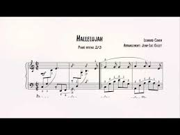 hallelujah piano sheet music hallelujah piano sheet music partition piano youtube