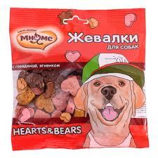 <b>Лакомство для собак Мнямс</b> Жевалки HEARTS&BEARS с ...