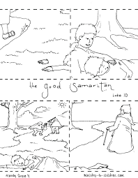 The Good Samaritan Coloring Page Good Coloring Page Pages A For Free