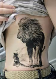 lioness and cubs tattoo. Simple Cubs Lion Tattoos On Lioness And Cubs Tattoo
