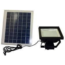 solar goes green solar super bright black 108 led outdoor flood light with timer