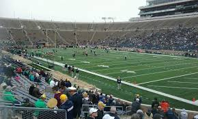 Notre Dame Stadium Section 23 Row 27 Seat 11 Notre