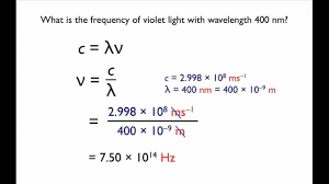 Speed Of Light Frequency Wavelength Relationship Between Wavelength And Frequency