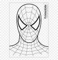 Spiderman crawls up a brick wall. Printable Spiderman Mask Spiderman Coloring Page Ba Spiderman Easy Coloring Pages Clipart 154815 Pikpng
