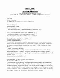 Athletic Trainer Cover Letter Best Ideas Sports Resume High School