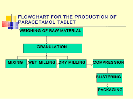 Paracetamol Manufacturing Process Flow Chart Dammy