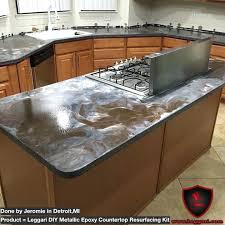 diy countertop resurfacing resurfacing made easy with our metallic diy concrete countertop resurfacing