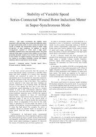 theory and steady state ysis of series connected wound rotor induction motor in sub synchronous mode request pdf