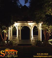 Outdoor Lighting Raleigh Nc Gazebo Lighting From Sunset Lightscapes Raleigh Nc Www