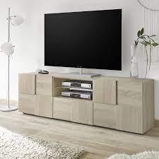 Et pour les plus imaginatifs, découvrez aussi notre gamme d'ensembles muraux tv. Meuble Tv Long Banc Tv Contemporain Meuble Tv En Bois Moderne