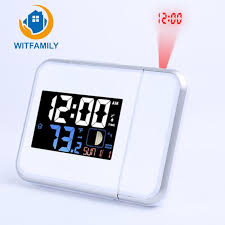 2018 rural style alarm clock quietly simple bedside calendar electronic watch bedroom living room digital projection luminous clock from starch