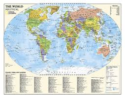 world kids political education grades 4 12 wall map by national geographic maps