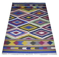 Designer Floor Rugs Boho India Designer Floor Cotton Rug Handmade Luxury Area