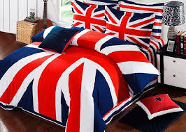 british flag bedding set striped duvet cover quilt sheets bedspreads bed in a bag king size queen bedsheet bedset cotton thick western bedding supplies