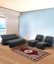 5 seater sofa set 3 1 1 in black