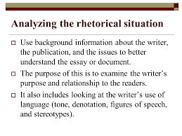 call to write third edition chapter two reading for academic  analyzing the rhetorical situation  use background information about the writer the publication and