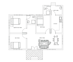 two room log cabin plans 4 2 bed one designs floor plain 1 bedroom architectures delectable