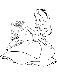 alice in wonderland coloring page