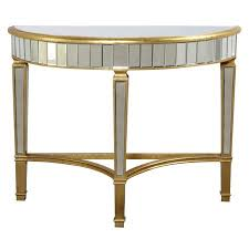 elegant furniture and lighting. Plain Lighting Elegant Furniture U0026amp Lighting Florentine Mirrored Half Moon Console Table To And O