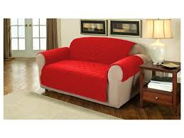 3 seat sofa covers red colored polyester material diamond shape textured arm geometric design wooden seater