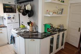 small apartment kitchen decor with l shaped design and open shelves opening wall ideas