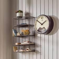 wire wall shelf black decorative basket sasajovanovic