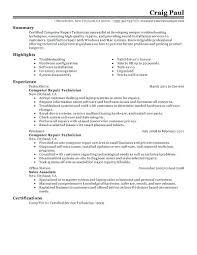 Technician Resume Format Superb Tech Template Free Career And