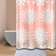 wonderful extra long shower curtain liner with fl pattern for bathroom decor ideas