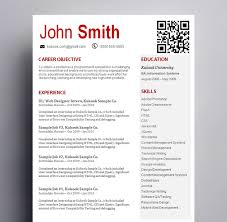 resume in red and white a twist kukook red and white themed resume sample