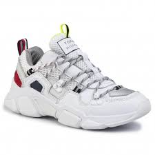 Tommy Hilfiger Shoes Size Chart Europe Sneakers Tommy Hilfiger City Voyager Chunky Sneaker Fw0fw04610 White Ybs