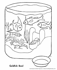 Small Picture Pet Fish Coloring Pages Free Printable Gold Fish Bowl Pet