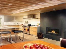 modern ventless gas fireplace with apples