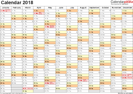 yearly printable calendar 2018 calendar 2018 uk 16 free printable pdf templates