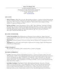 Fashion Merchandising Resume Resume For Your Job Application