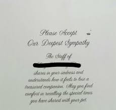 sympathy card pet vets touching sympathy card for dog owner will leave you