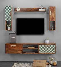 thyme wall mounted tv unit with 3