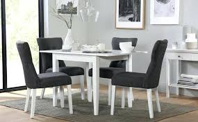bewley furniture white extending dining table with 4 slate chairs bewleys furniture center shreveport la