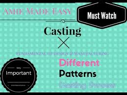Different Types Of Patterns Adorable Casting Types Of Patterns YouTube